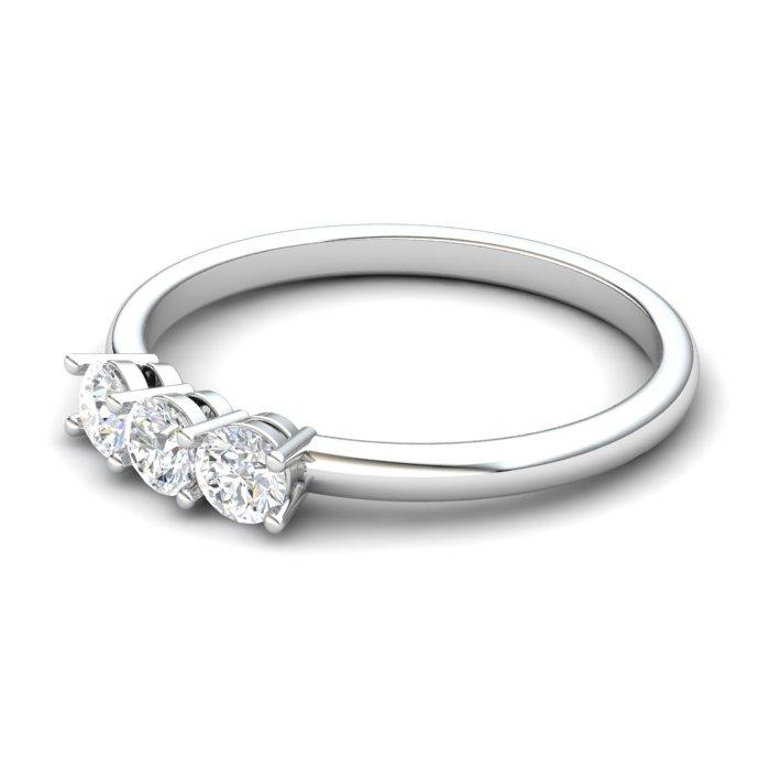 White Sapphire Three Wishes Ring_image2