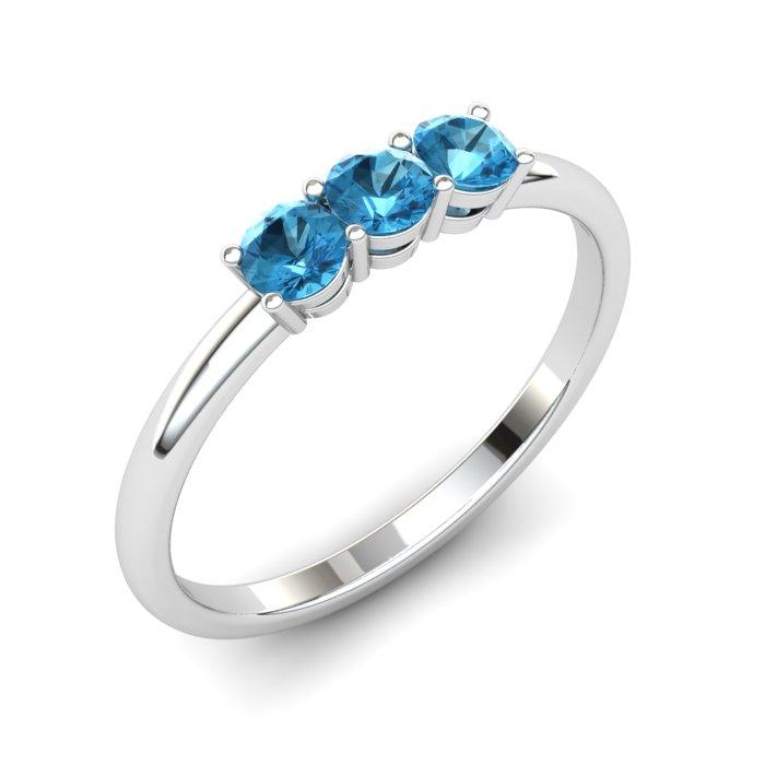 Blue Topaz Three Wishes Ring_image1
