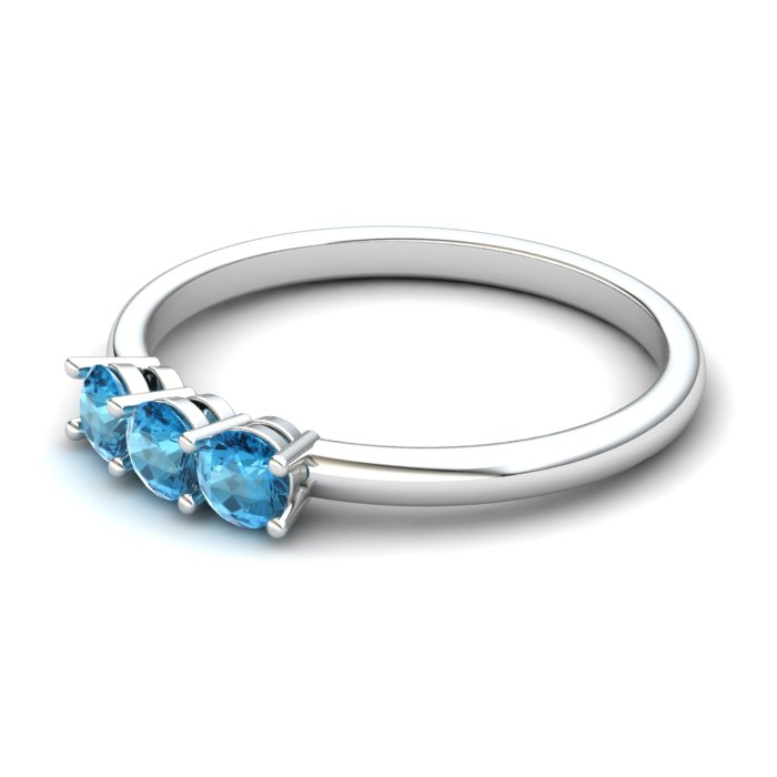 Blue Topaz Three Wishes Ring_image2