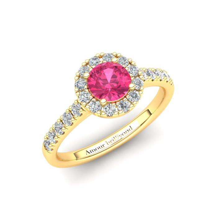 5mm Customisable Sapphire Halo Engagement Ring_image3