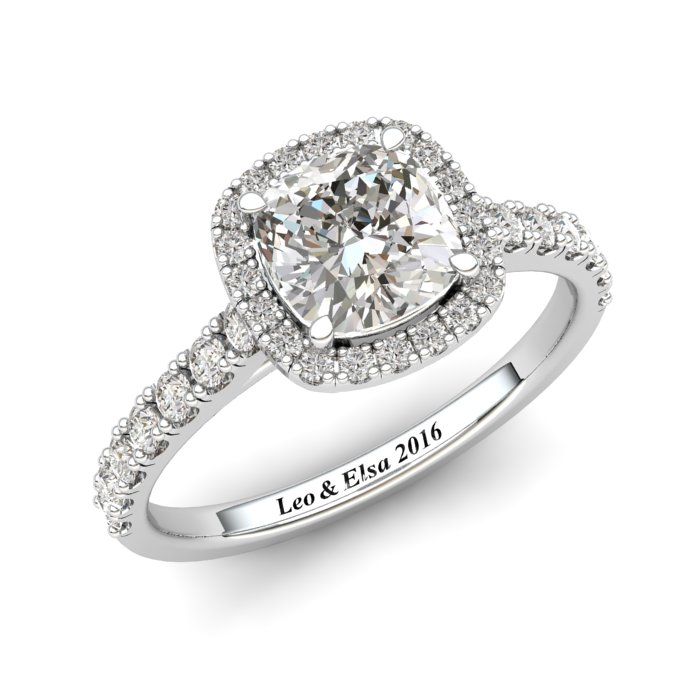 6mm Customisable Sapphire Cushion Cut Engagement Ring_image1