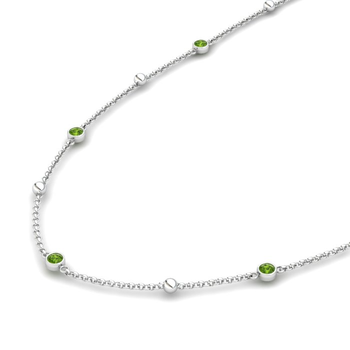 Peridot Honeydew Wreath Matinee Necklace_image2