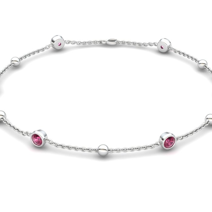 Pink Garnet Mathiola Bracelet_image2
