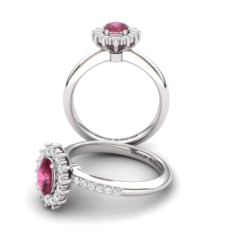 The Royal Heritance White Gold Engagement Ring_image1