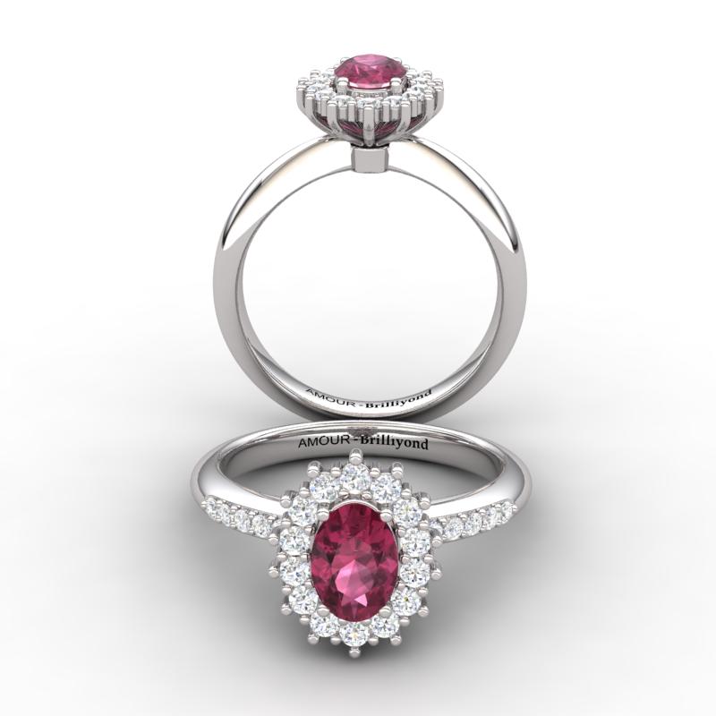The Royal Heritance White Gold Engagement Ring_image2
