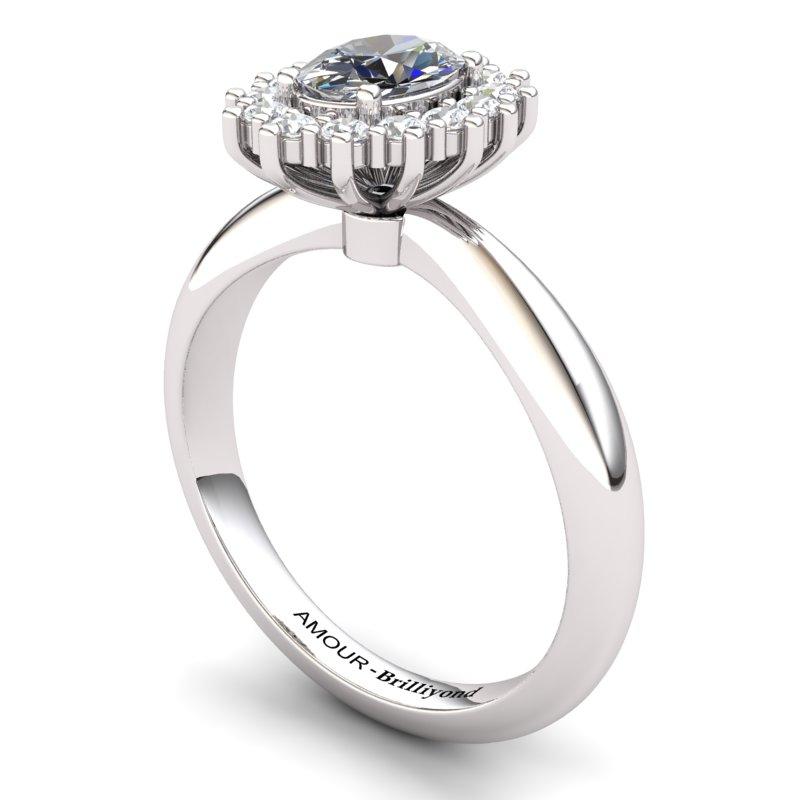 White Topaz Artisanal The Royal Heritance White Gold Engagement Ring_image1