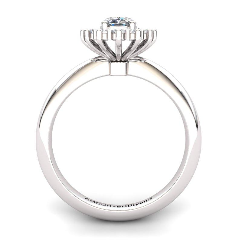 White Topaz Artisanal The Royal Heritance White Gold Engagement Ring_image2