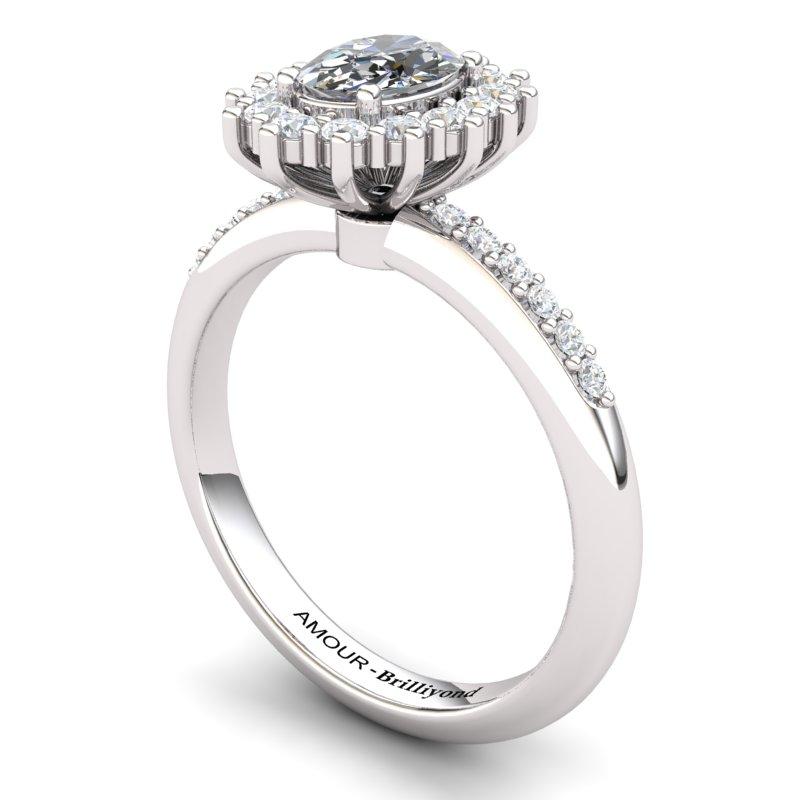 White Topaz Elite The Royal Heritance White Gold Engagement Ring_image1