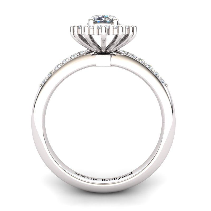 White Topaz Elite The Royal Heritance White Gold Engagement Ring_image2