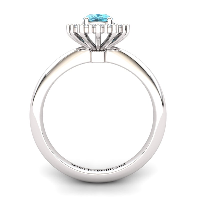 Blue Topaz Artisanal The Royal Heritance White Gold Engagement Ring_image2