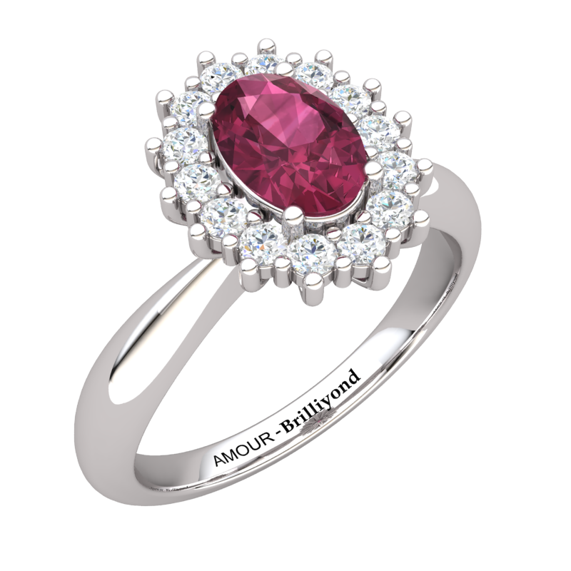 Garnet Artisanal The Royal Heritance White Gold Engagement Ring_image1