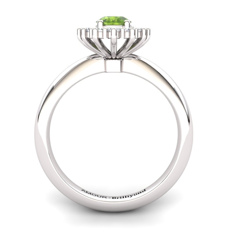 Peridot Artisanal The Royal Heritance White Gold Engagement Ring_image2