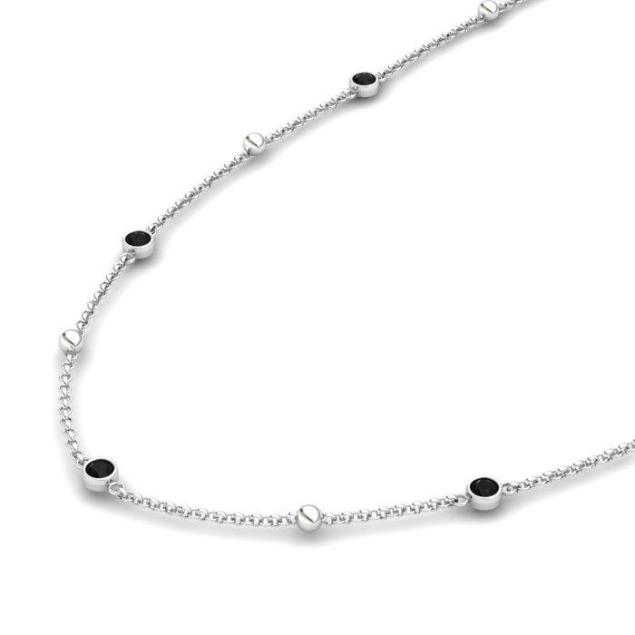 18K White Gold Sofia Necklace