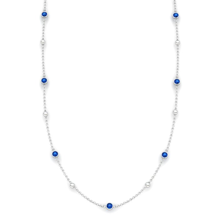 Blue Topaz 18K White Gold Sofia Necklace_image2