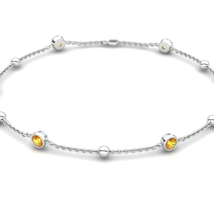 Citrine 18K White Gold Sofia Bracelet