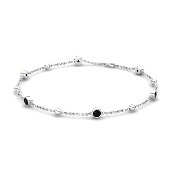 Onyx 18K White Gold Sofia Bracelet