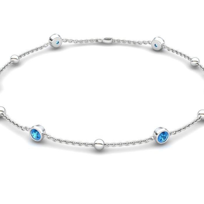 Blue Topaz 18K White Gold Sofia Bracelet