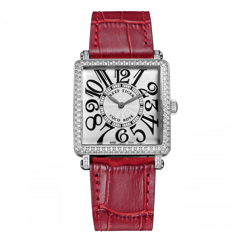 Red Reef Tiger  Ladies Watch with Genuine Leather Band and Sapphire Crystal Dial_image1