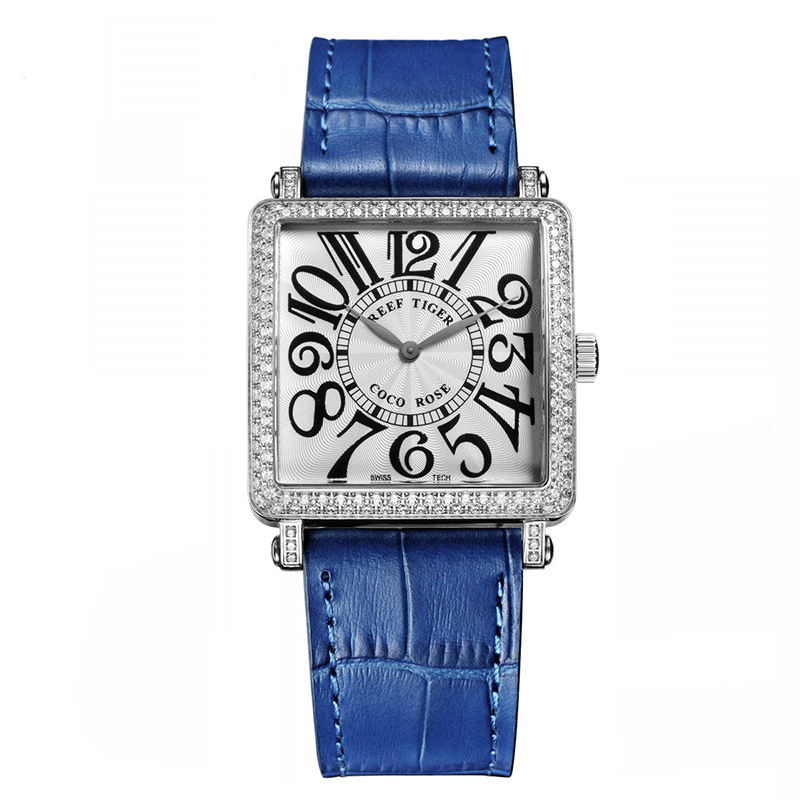 Blue Reef Tiger  Ladies Watch with Genuine Leather Band and Sapphire Crystal Dial_image1