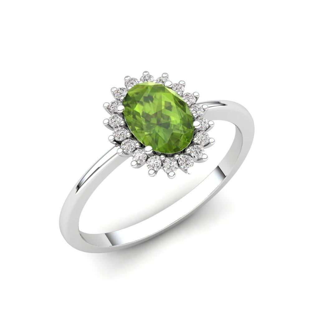 Princess Diana Peridot Silver Ring_image3
