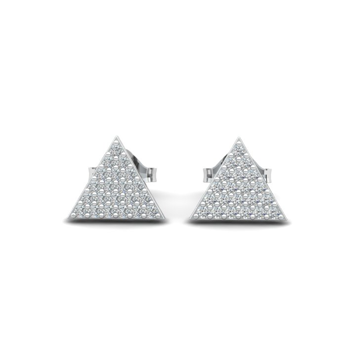 Athena Cubic Zirconia Filled Triangular Earrings