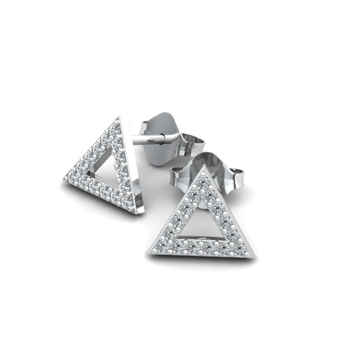 Athena Cubic Zirconia Filled Triangular Earrings_image3
