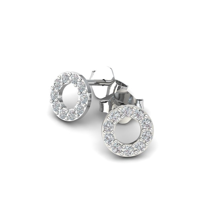 Athena Cubic Zirconia Hollow Circular Earrings_image3