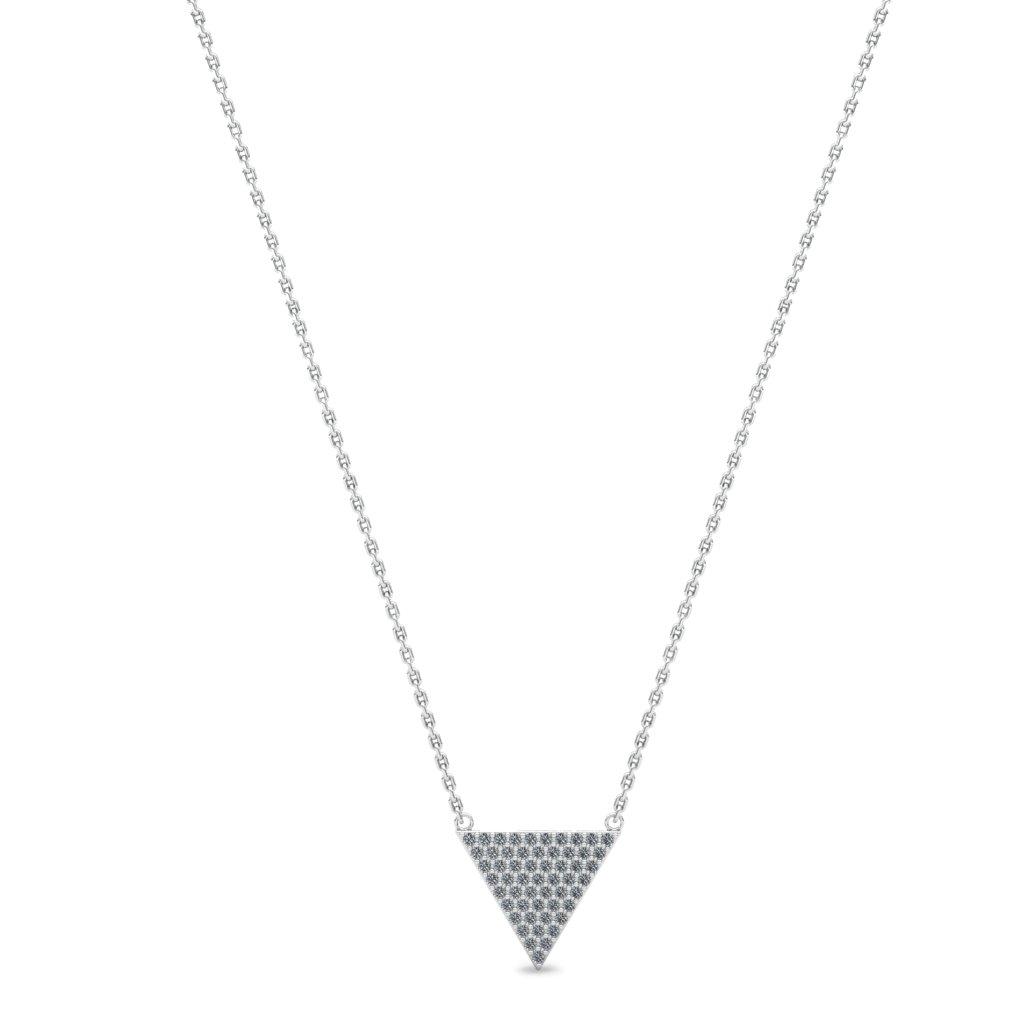 Athena Cubic Zirconia Filled Triangular Pendant Necklace _image1