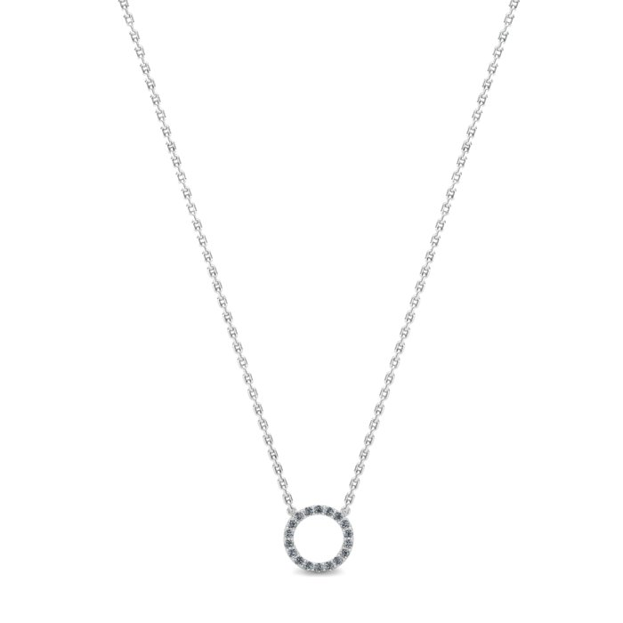 Athena Cubic Zirconia Halo Pendant Necklace_image2