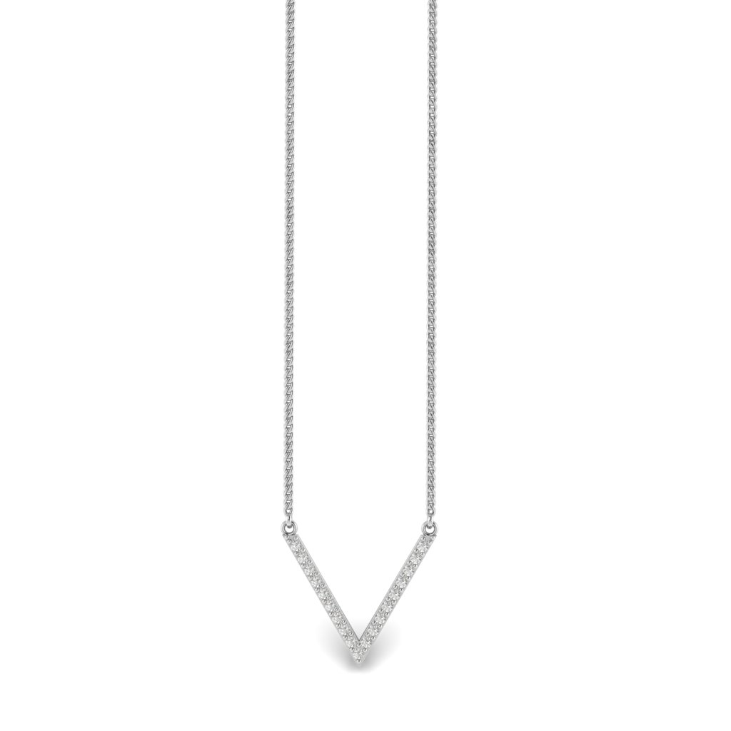 White Gold Chevron Pendant_image1