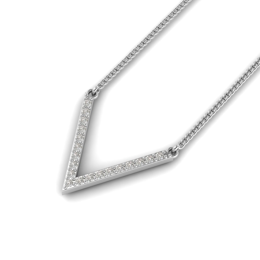 White Gold Chevron Pendant_image2