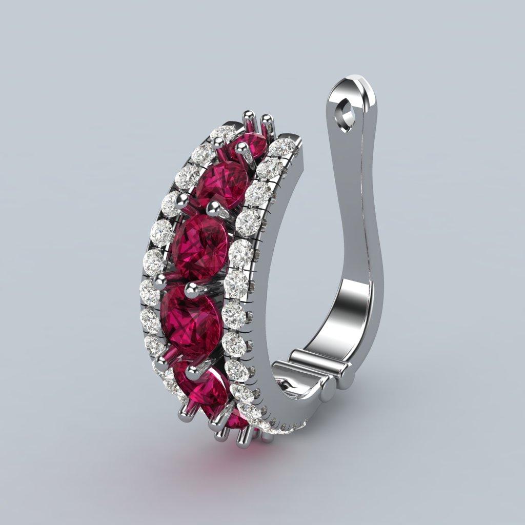 Red Garnet Half Moon Earrings_image1