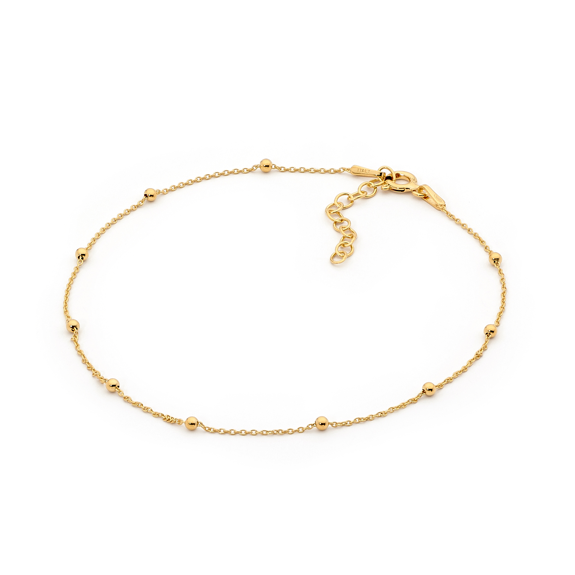 Sterling Silver Gold Plated Ora Bello Anklet_image1