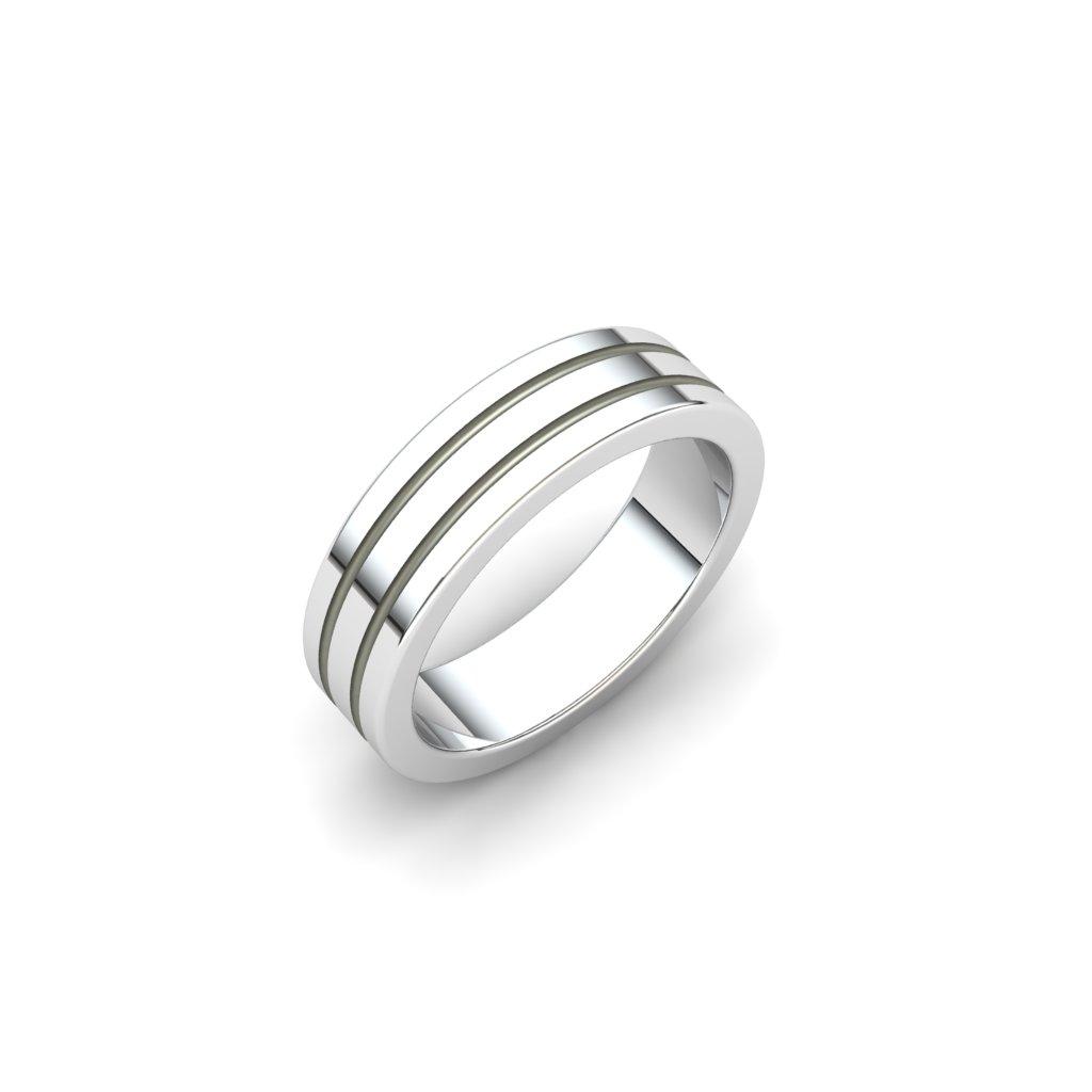 Esteban Sterling Silver Grooved Ring_image1
