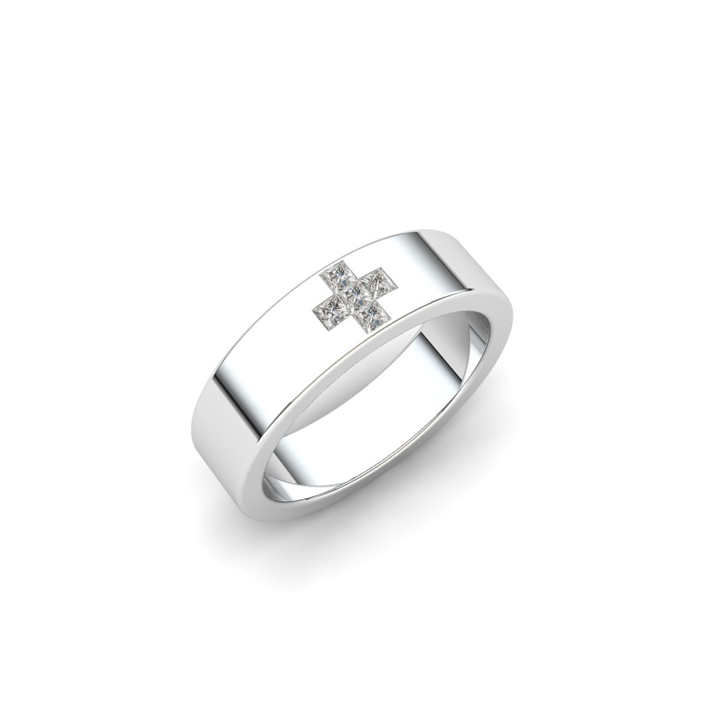Esteban Sterling Silver Wedding Style Band_image2