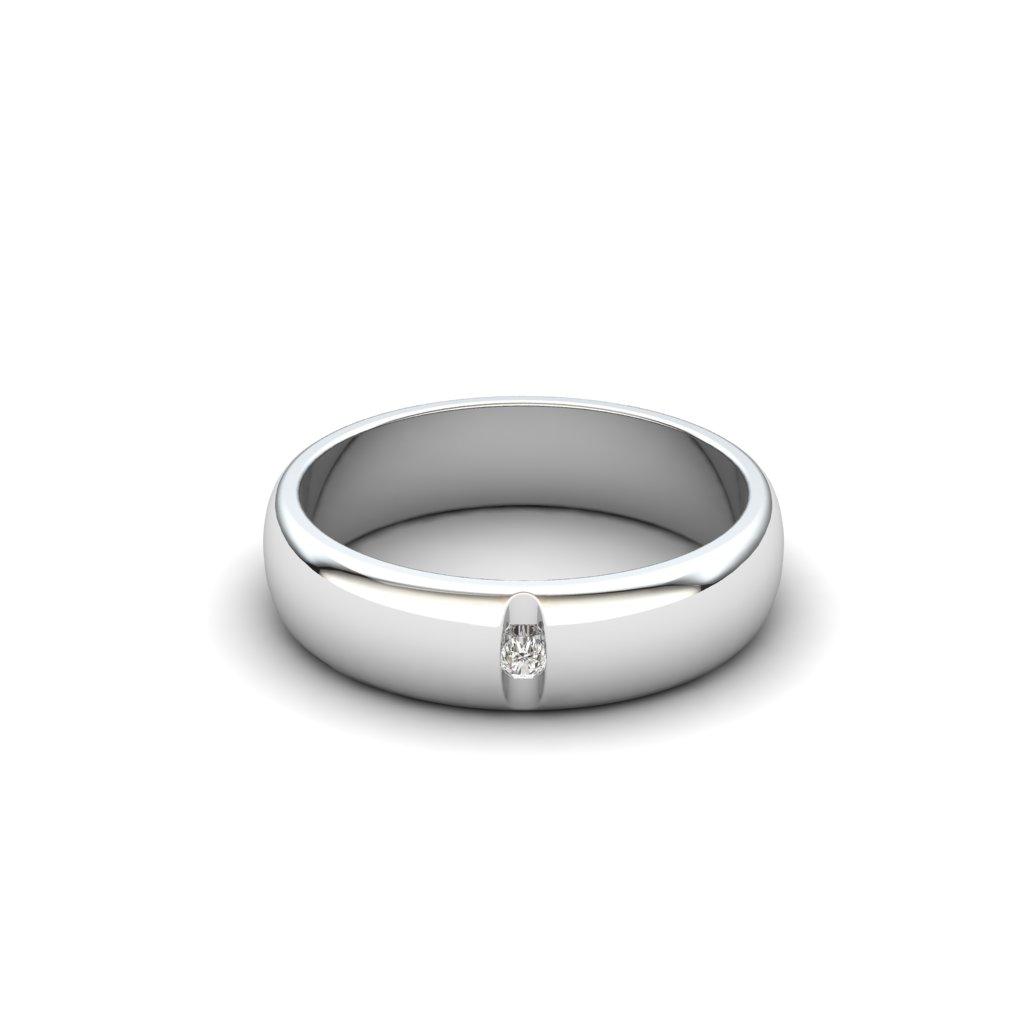 Esteban Brilliant Cut White Sapphire Ring_image1