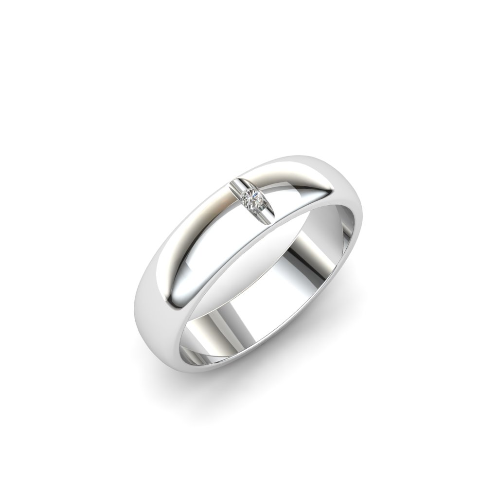 Esteban Brilliant Cut White Sapphire Ring_image2