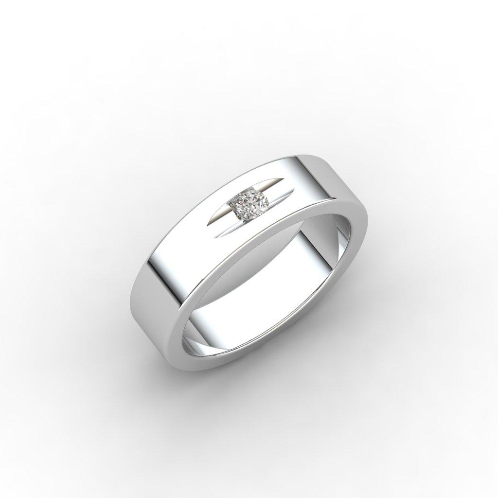 Esteban Sterling Silver White Sapphire Flush Ring