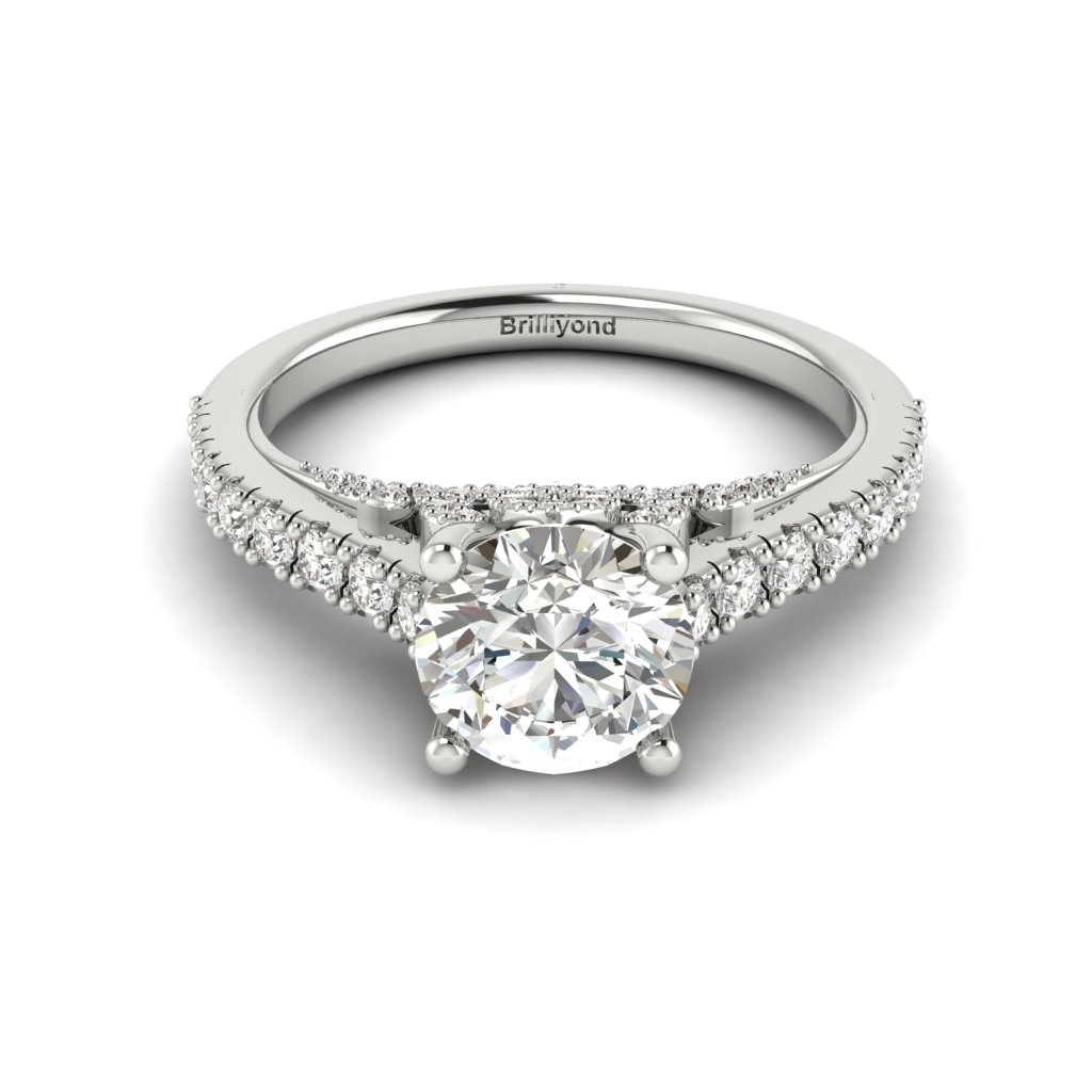 White Gold Brilliant Cut Diamond Engagement Ring Vera_image1