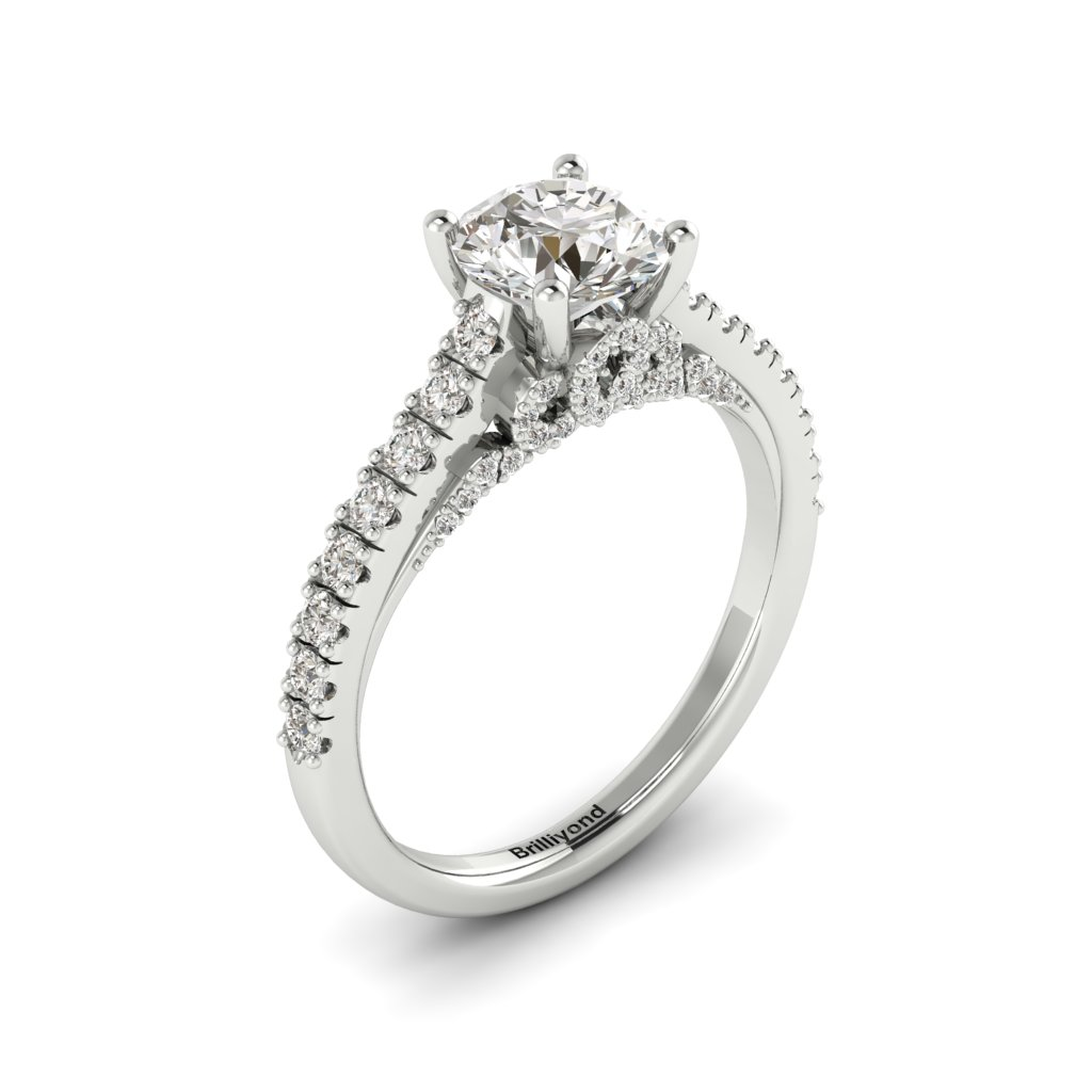 White Gold Brilliant Cut Diamond Engagement Ring Vera_image2