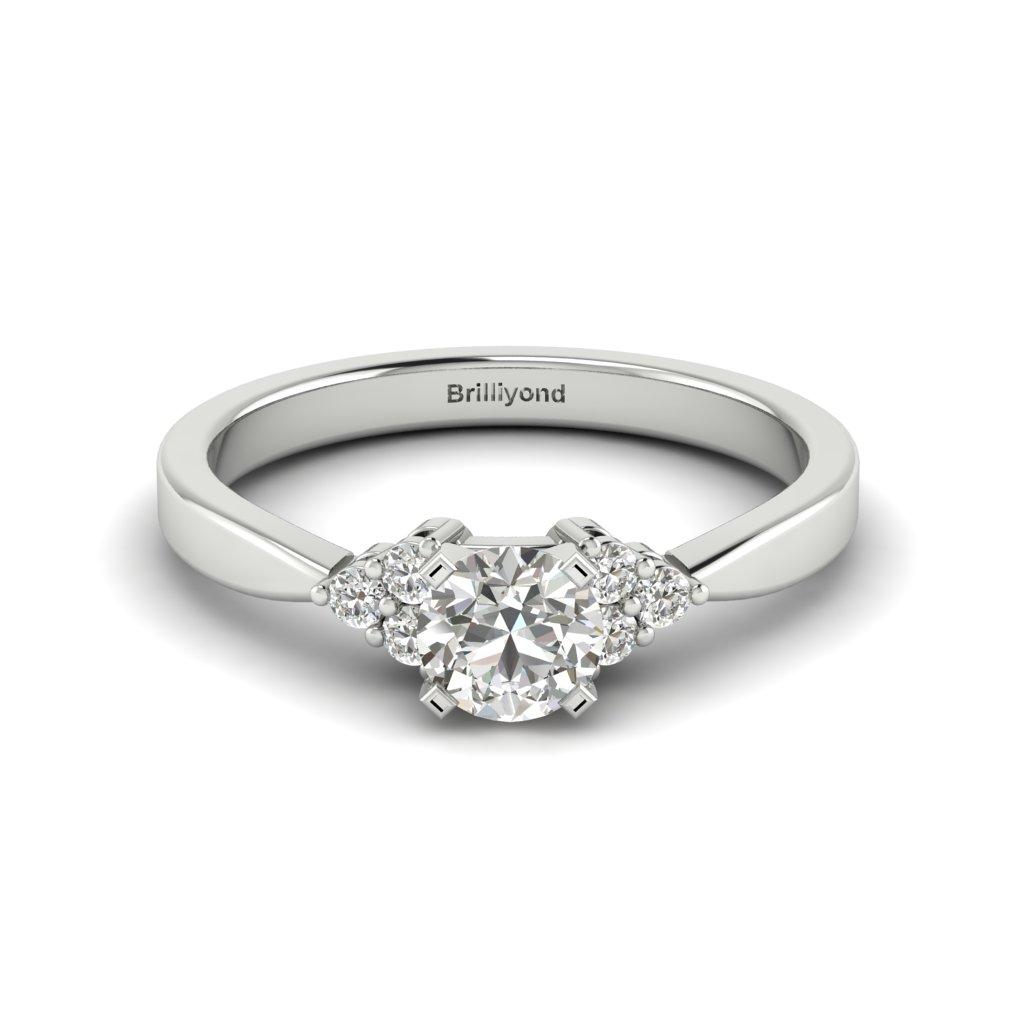 Brilliant Cut 18K Gold Engagement Ring Jasmine_image2