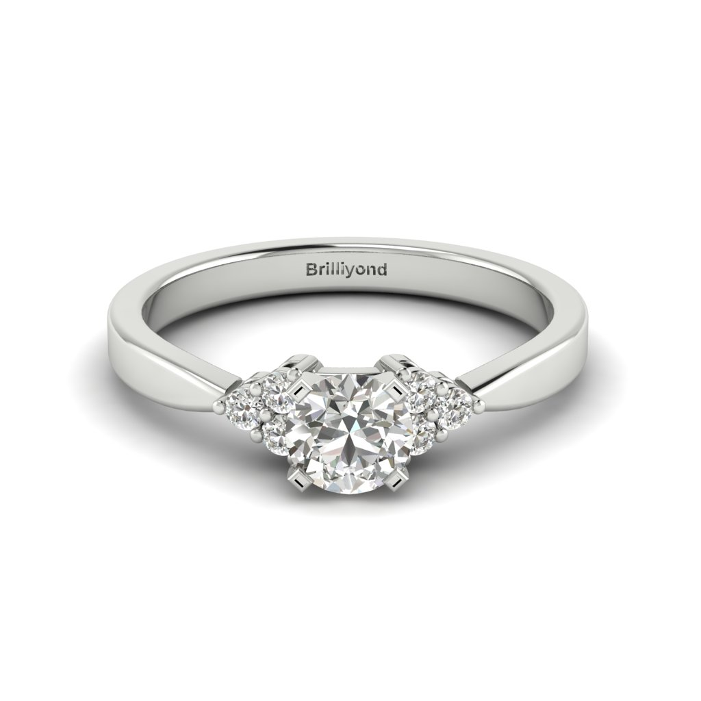 Platinum Brilliant Cut Diamond Engagement Ring Jasmine_image1
