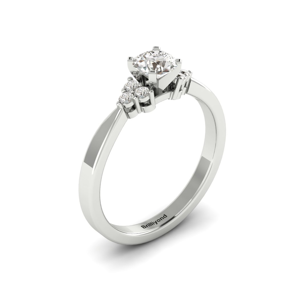 Platinum Brilliant Cut Diamond Engagement Ring Jasmine_image2