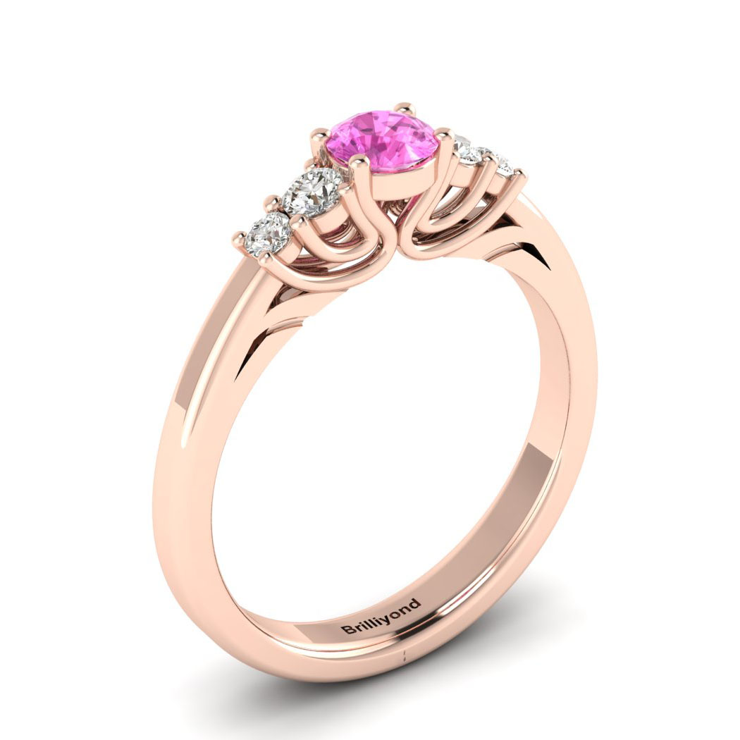 Claddagh Pink Sapphire Engagement Ring in Rose Gold_image1