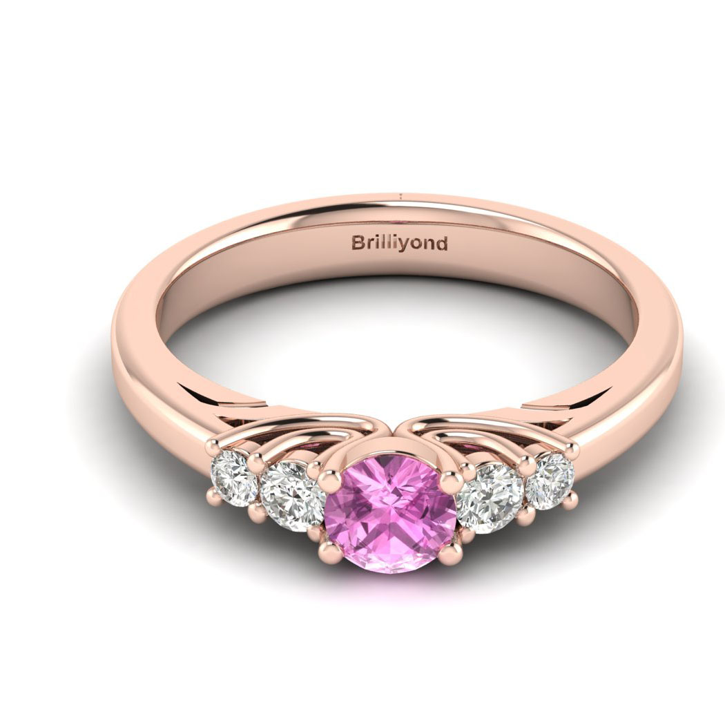 Claddagh Pink Sapphire Engagement Ring in Rose Gold_image2
