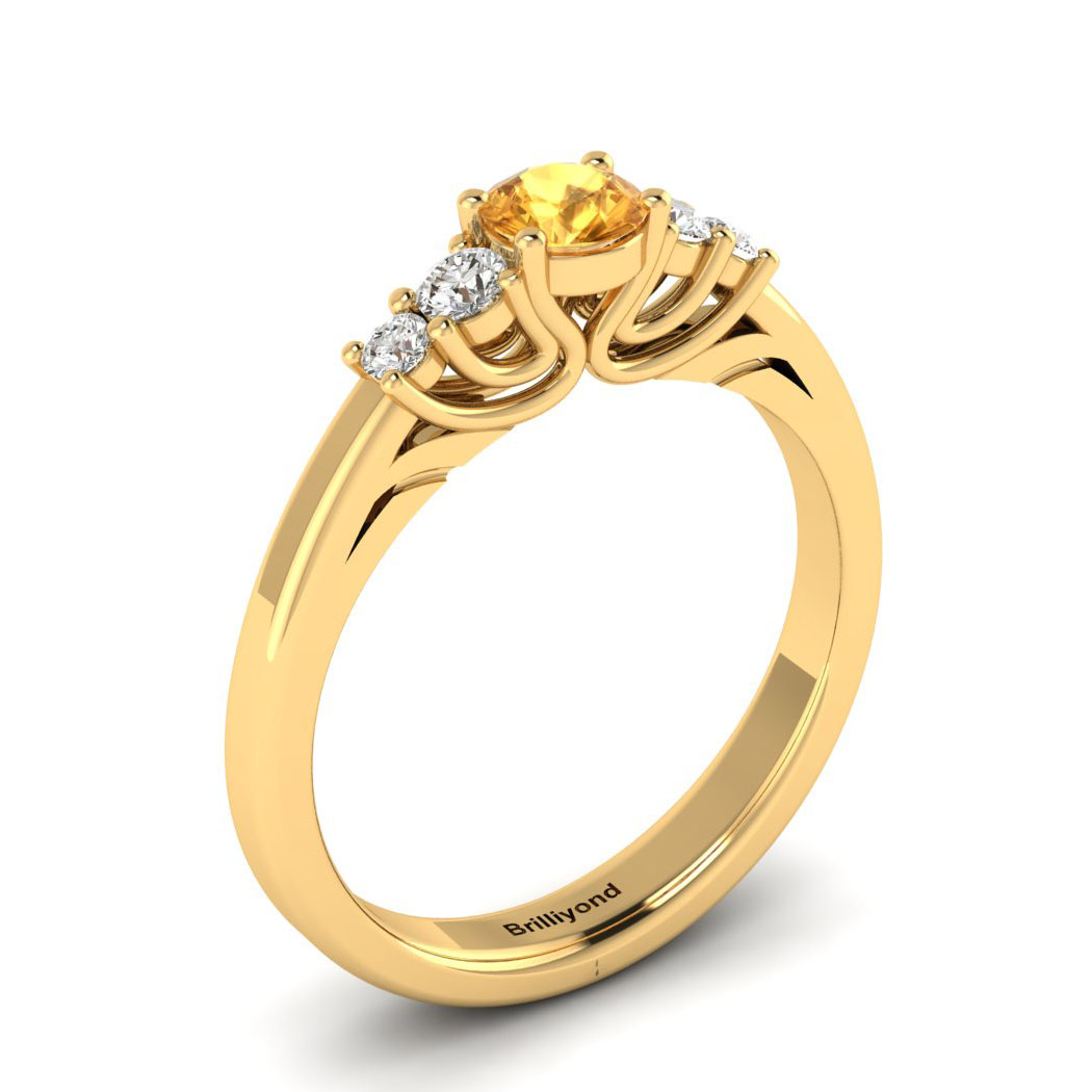 Claddagh Yellow Sapphire Engagement Ring in Yellow Gold_image1