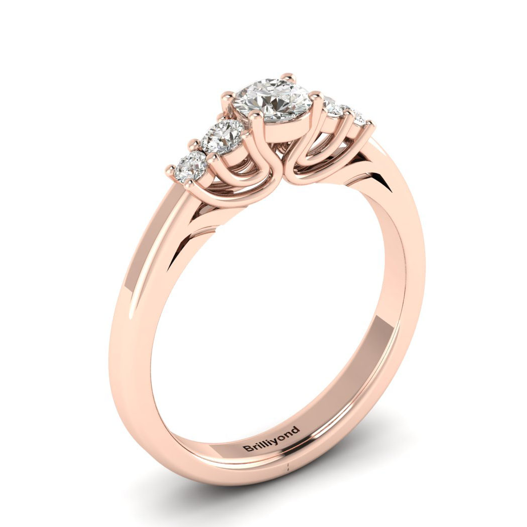 Claddagh White Sapphire Engagement Ring in Rose Gold_image2