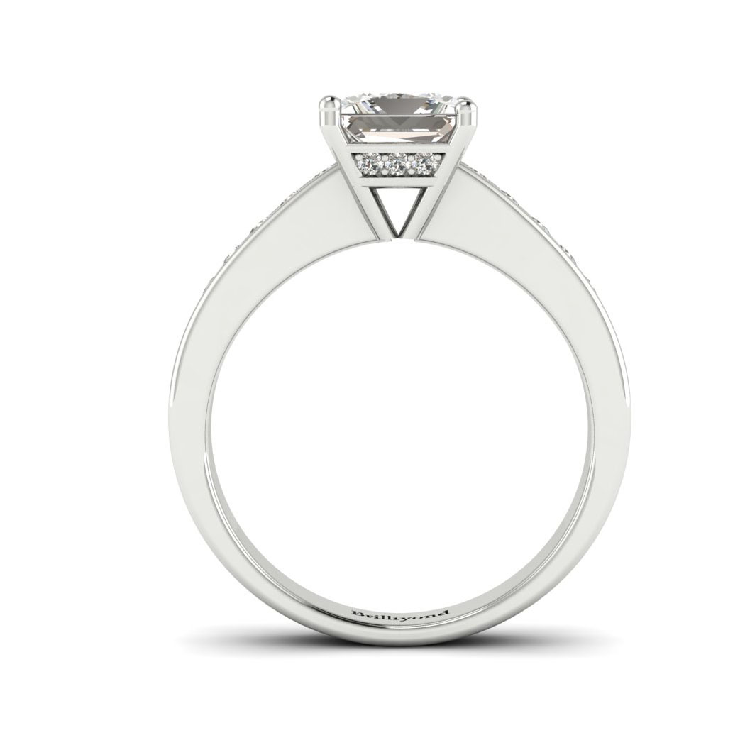 Diamond White Gold Princess Cut Engagement Ring Pharos_image1