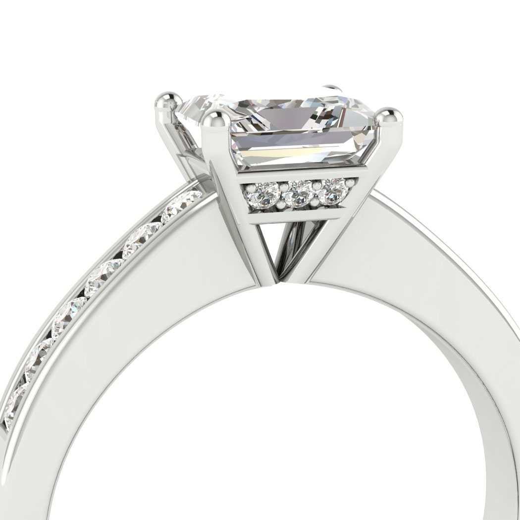 Diamond White Gold Princess Cut Engagement Ring Pharos_image4