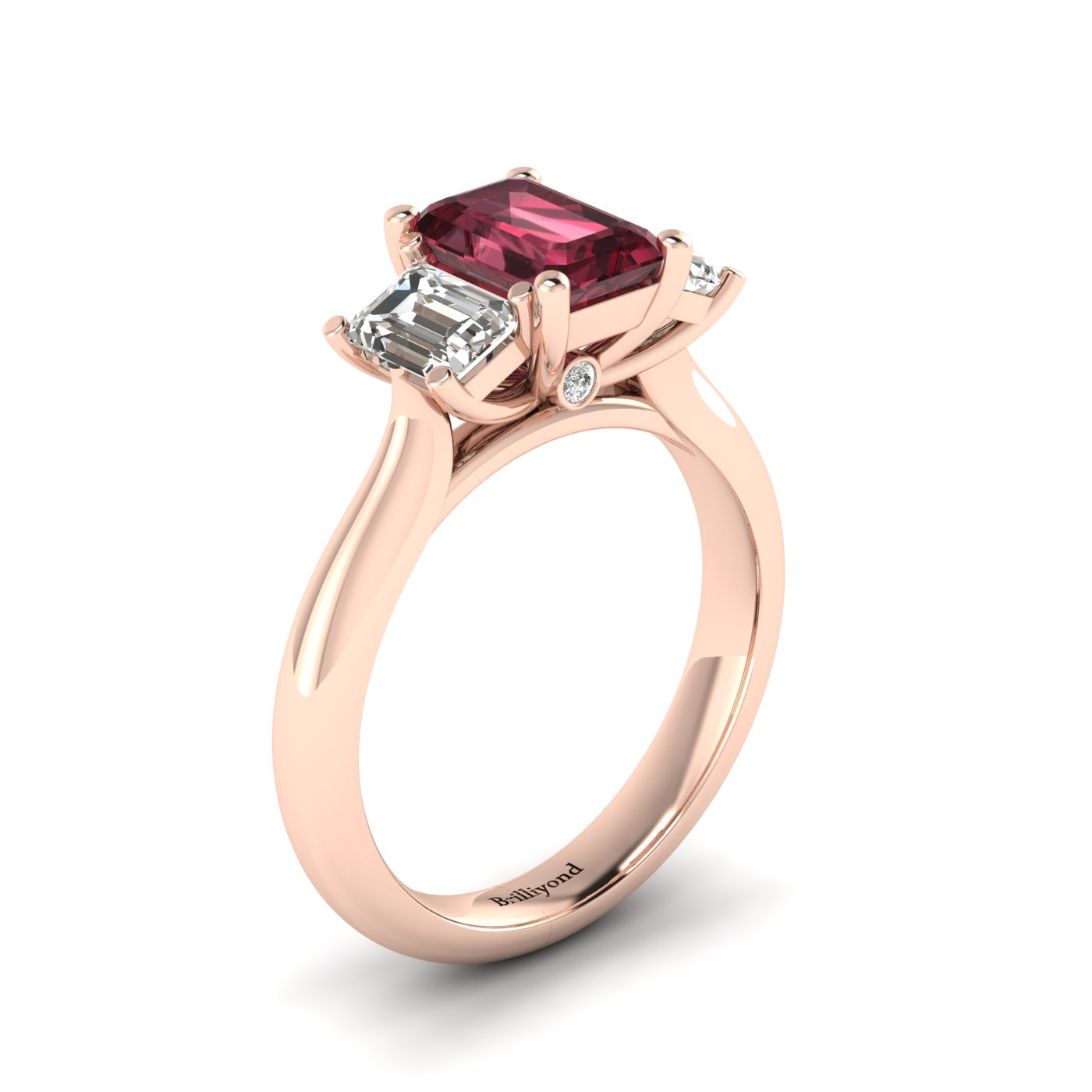 rhodolite si vintage ring engagement cut diamond garnet in victorian sphere halo white gold setting h round rings i